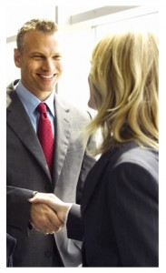 Seal your deal with a handshake and a smile...