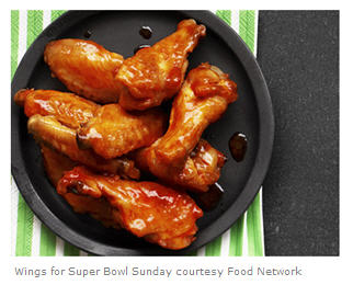 Wings Recipe for Super Bowl Sunday courtesy Food Network