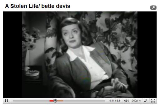 Bette Davis A Stolen Life YouTube