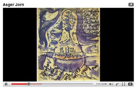 Paintings of Danish Painter Asger Jorn on YouTube