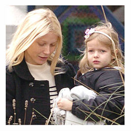Gwenyth Paltrow and daughter Apple