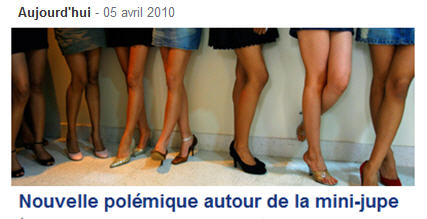Mini-skirt Micro-mini Debate in France