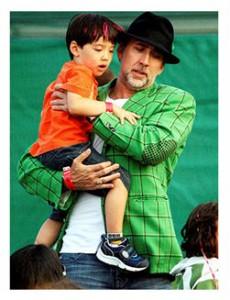 Nicolas Cage and son Kal-El