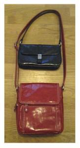 black purse red purse