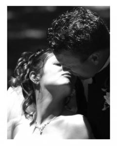 Intimate Wedding Kiss