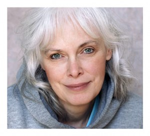 Beautiful silver haired woman