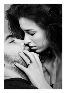 Sexy Couple Kissing