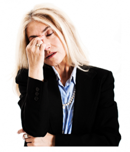 Mature Woman Stressed Out