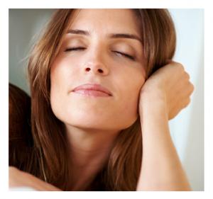 Woman Sleeping Sitting Up