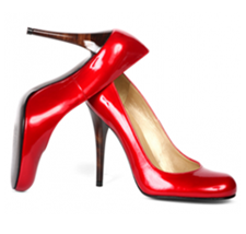 Red heels make me dance with glee Might there be some by the tree