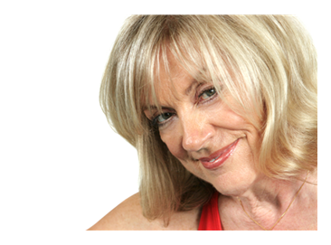 Smiling blonde woman middle aged