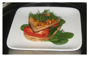 Salmon with Dill and Tomato
