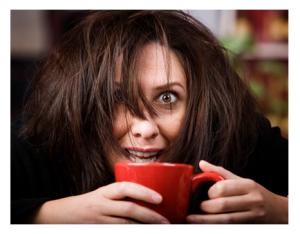 Coffee Crazed Woman