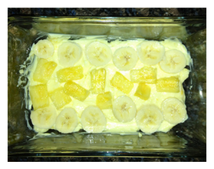 Banana Cream Pie Layering and Adding Pineapple