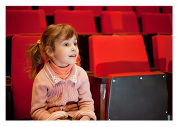 Little Girl at the Movies
