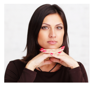 Pensive Woman Dark Hair