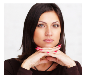 Thoughtful Woman Dark Eyes