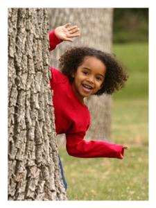Happy Little Girl Playing