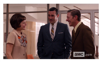 Mad Men Season 6 Episode 12 Video Clip Still Peggy Ted and DOn