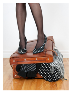 Overstuffing a suitcase