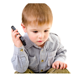 Very Little Boy on Cell Phone