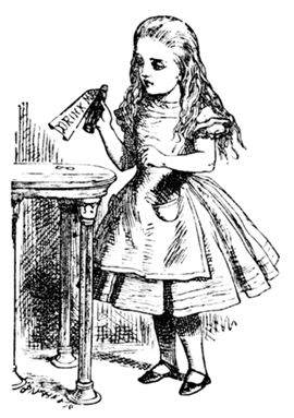 Alice in Wonderland Engraving by John Tenniel 1872