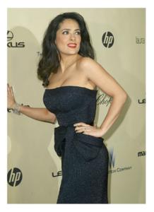 Salma Hayek Golden Globes 2013
