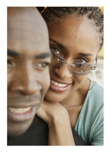 Smiling Happy African American Couple