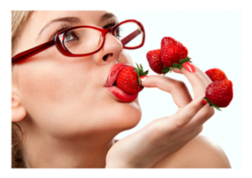 Woman Who Loves Strawberries