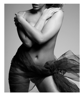 Woman's Torso in Bow bw