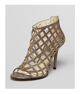 Michael Kors Caged Open Toe Booties at Bloomingdales