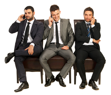 Three Business Guys Sitting