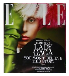Lady Gaga on the cover of ELLE