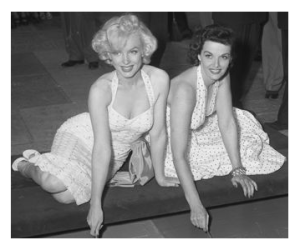 Marilyn Monroe and Jane Russell 1953