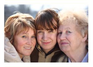 Three Generations of Women Smiling