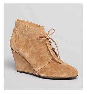 Via Spiga Lace Up Wedgie Booties