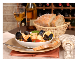 Bouillabaisse and bread
