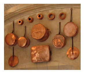 Display of Copper Pots and Pans