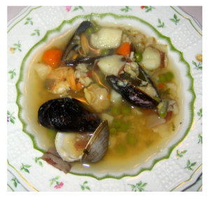 Homemade Fish Chowder with Mussels