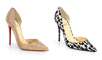 Two Louboutin Iriza Pumps