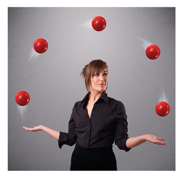 Woman Juggling