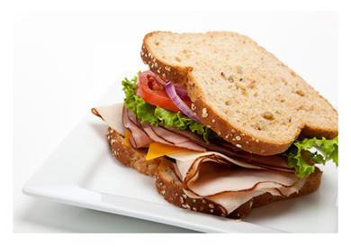 Turkey Ham and Cheese on Multigrain