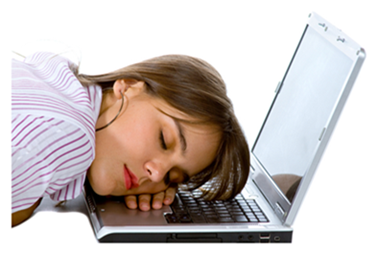 Woman Asleep on Laptop
