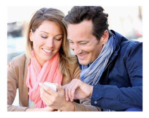 Couple Checking Social Media Feed