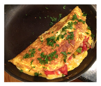 Beautiful Omelet Ready to Serve