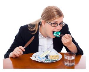 Woman Consuming Pills