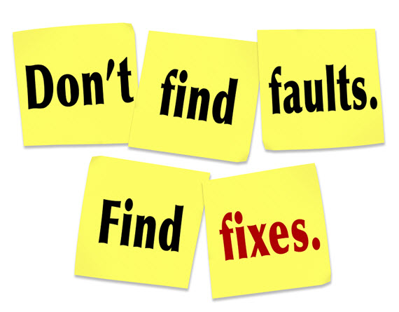 Don't Find Fault