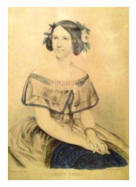 Jenny Lind Color Lithograph c 1848