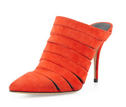 Alexander Wang Britt Suede Strappy Mule Booty at Neiman Marcus