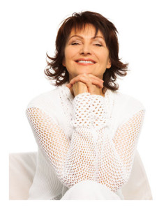 Confident Mature Woman in White